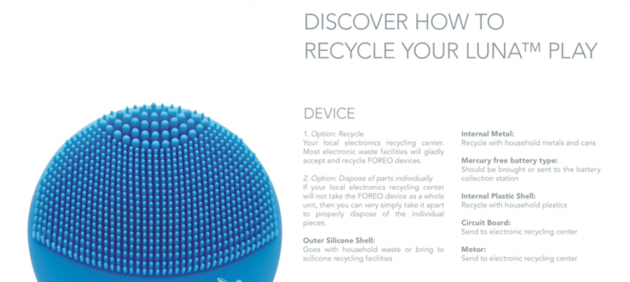 Foreo Luna Play recycle