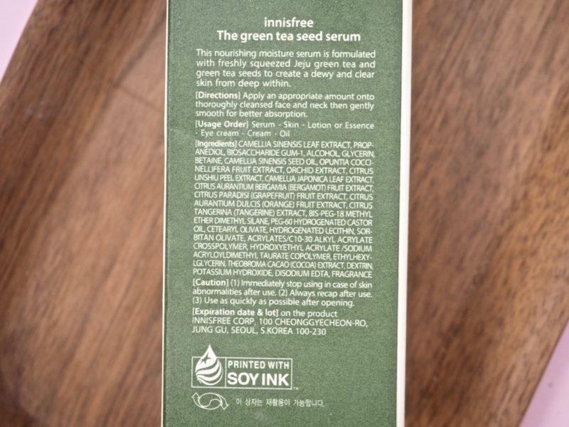 Innisfree The Green Tea Seed Serum kokemuksia Ostolakossa blogi Virve Vee