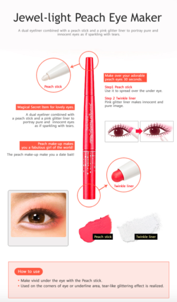 Jewel-Light Peach Eye Maker
