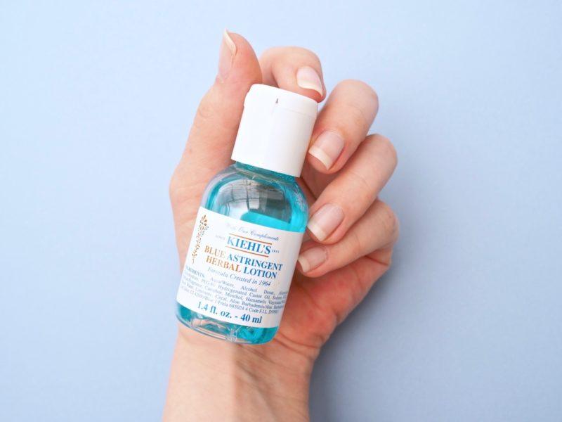 Kiehl's Blue Astrigen Herbal Lotion kasvovesi rasvaiselle iholle kokemuksia