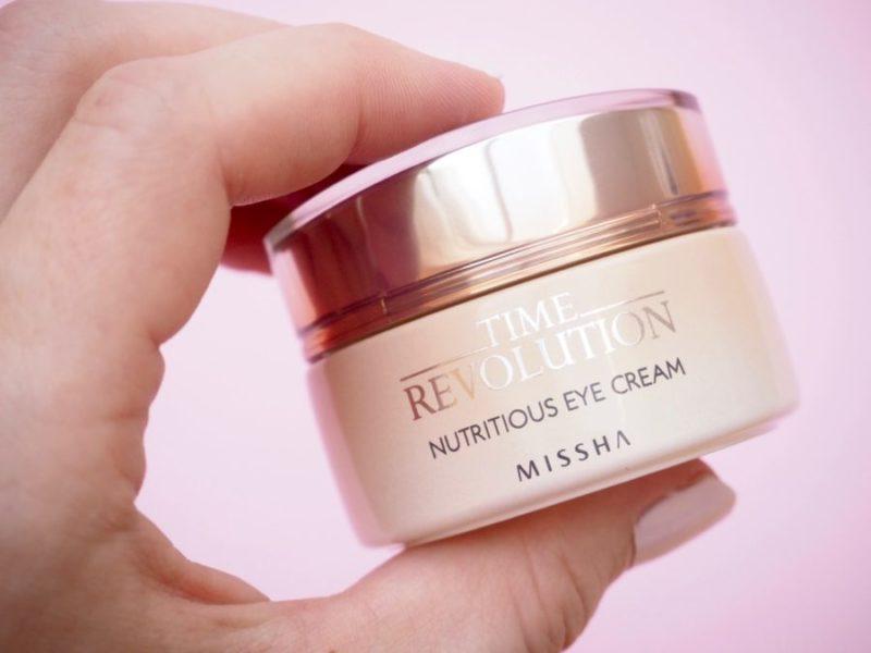 Missha Time Revolution Nutritious Eye Cream silmänympärysvoide kuivalle iholle Ostolakossa Virve Vee