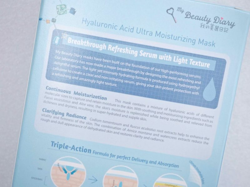 My Beauty Diary Hyaluronic Acid Ultra Moisturizing Mask