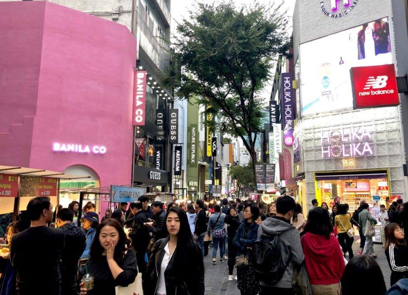 Ostolakossa korealaiset kosmetiikkamyymälät