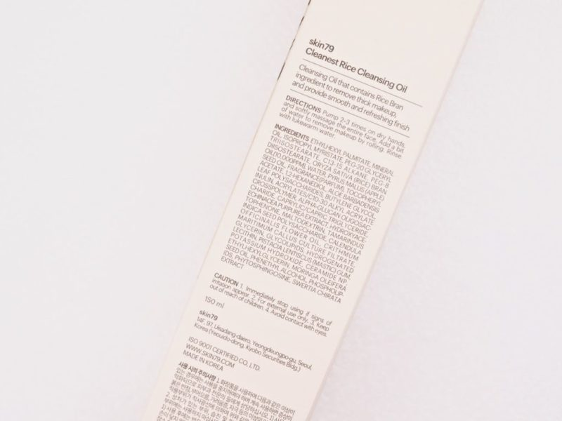 Skin79 Cleanest Rice Cleansing Oil Ostolakossa Virve Vee kokemuksia