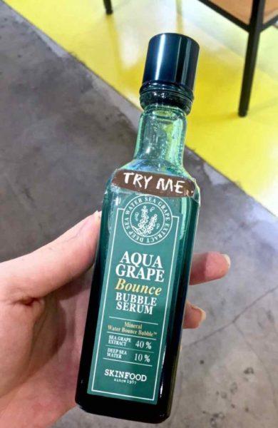 Skinfood Aqua Grape Bounce Bubble Serum - 1
