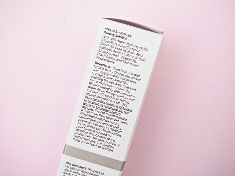 The Ordinary AHA 30% + BHA 2% Peeling Solution kuorinta kokemuksia