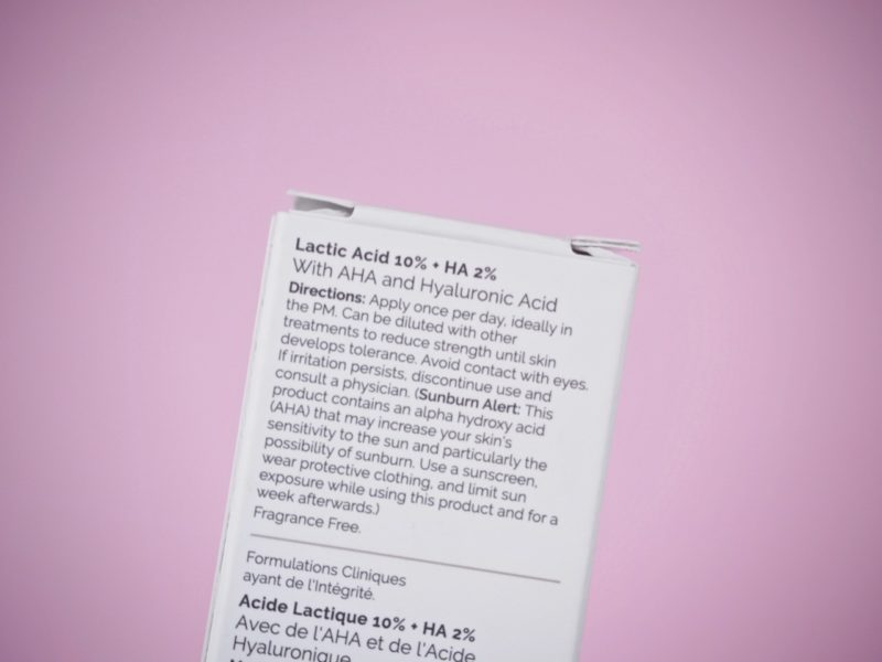 The Ordinary Lactic Acid 10% HA 2% kokemuksia Ostolakossa blogi Virve Vee