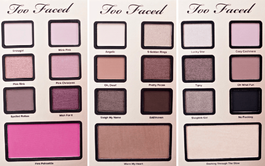 Too Faced Best Year Ever 2018 Eyeshadows