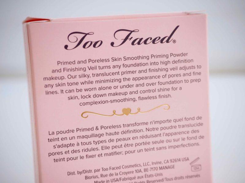 Too Faced Primed & Poreless